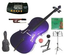Merano 1/2 Size Purple Student Cello with Bag and Bow+2 Sets