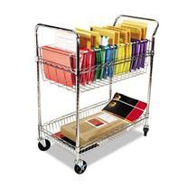 ALERA MC343722CR Carry-all Cart/Mail Cart, Two-Shelf, 34-7/