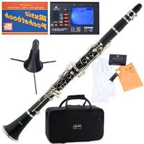 Mendini MCT-BL+SD+PB+92D Blue ABS B Flat Clarinet with Tuner