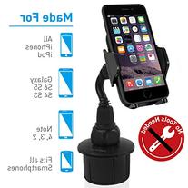 Macally Adjustable Automobile Cup Holder Phone Mount for