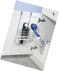 mDesign Metal Over Door Hair Care & Styling Tool Storage