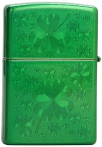 Zippo Meadow Green Iced Clover Pocket Lighter