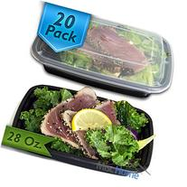 28 Oz. Meal Prep Containers BPA Free Plastic Reusable Food