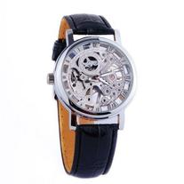ShoppeWatch Mens Mechanical Skeleton Watch Hand Wind Up