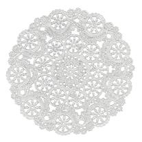 Royal Medallion Lace Round Paper Doilies, 8-Inch, Pack of 20