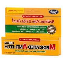 Medicated Anti-itch Cream with Aloe & Vitamin E, 0.5 oz