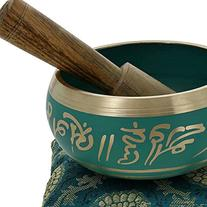 4 Inches Hand Painted Metal Tibetan Buddhist Singing Bowl