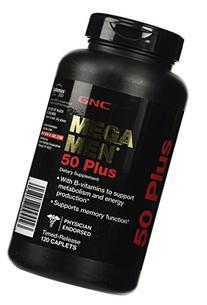 GNC Mega Men 50 Plus Daily Multivitamin, Supports Memory