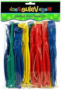 Amscan Fun-Filled Assorted Colors Punch Balloons ,