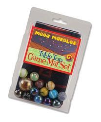 MegaFun USA Table Top Marble Game Mat Set with Mega Marbles