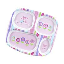 Baby Toddler Child divided Tray Plate Bird Park