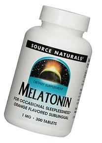 Source Naturals Melatonin  1mg, Orange, for Occasional
