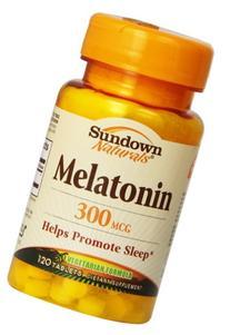Sundown Naturals Melatonin, 300 mcg, Tablets, 120 tablets
