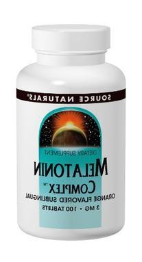 Source Naturals Melatonin Complex, Orange,  3 Mg,  100