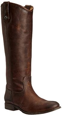 FRYE Women's Melissa Button Boot, Dark Brown Washed Antique