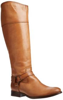 FRYE Women's Melissa Harness InSide-Zip Boot, Camel Smooth