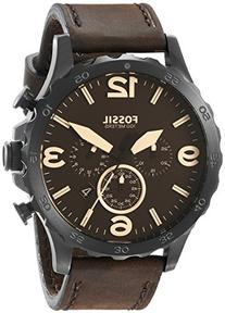 Fossil Men's JR1487 Nate Stainless Steel Watch with Brown