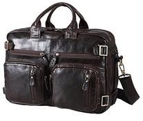 Polare Men's Versatile Stylish Business Briefcase Genuine