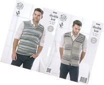 King Cole Mens Double Knitting Pattern Sleeveless Slipover