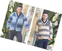 King Cole Mens Easy Knit Super Chunky Tints Knitting Pattern