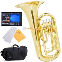 Mendini MEP-L Lacquer Brass B Flat Euphonium with Stainless