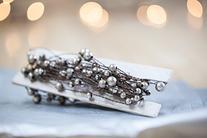 Mercury Glass Beaded Garland on Rustic Wire 24 Feet Wedding