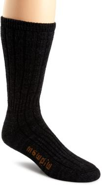 Wigwam Men's Merino/Silk Hiker Heavyweight Crew Socks, Black
