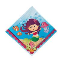 Mermaid Birthday Party Luncheon Lunch Paper Napkins