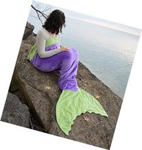 Mermaid Tail Blanket in 7 Colors CHILD & ADULT Size - USA