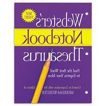 Merriam Webster FSP0573 Notebook Thesaurus, Three-Hole