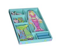 Melissa & Doug Merry Mermaid Wooden Dress-Up Doll and Stand