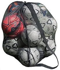 Keeble Outlets Drawstring Mesh Ball Bag With Shoulder Strap