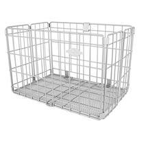 Sunlite Rear Wire Folding Basket, Silver