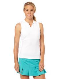 Fred Perry Women's Mesh Collar Racer Back Tennis Shirt,