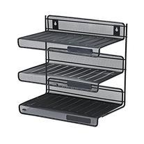 Rolodex Mesh Collection 3-Tier Desk Shelf, Letter-Size,