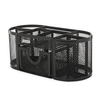 Rolodex Mesh Collection Oval Supply Caddy, Black