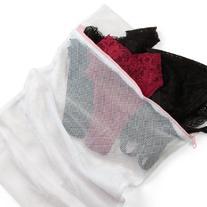 Maidenform Women's Mesh Lingerie Bag, White, Large