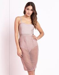 Lipsy Mesh Overlay Dress