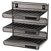 Mesh Three-Tier Letter Size Desk Shelf, 10 x 7 x 9 3/8,