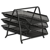 Osco Mesh Letter Tray 3-Tier Scratch-resistant Stackable