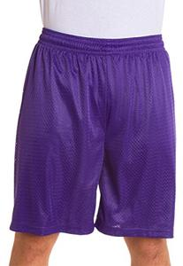 "Badger Sportswear mens Mesh/Tricot 9"" Shorts-PURPLE-S"