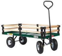 Farm Tuff 24-Inch by 48-Inch Metal Deck Wagon with 2-Rail
