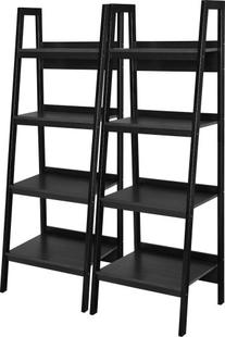 Ameriwood Home Lawrence 4 Shelf Ladder Bookcase Bundle,