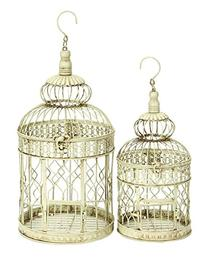 Deco 79 Metal Wall Hanging Bird Cage, 22-Inch and 18-Inch,