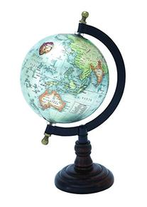 Benzara Beautiful Metal Wood Globe with Wooden Axis