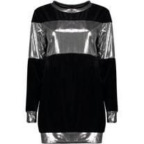 Metallic Color Block Sweatshirt