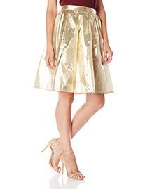 Glamorous Women's Metallic Full Skirt, Gold, Small