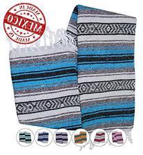 Yogi Yoga Premium Mexican Bed Blanket - Beautiful, Bright