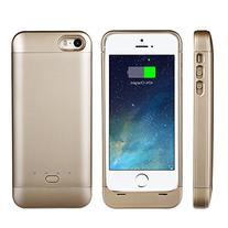 EasyAcc® Mfi 2200mAh iPhone 5 5s 5c battery charging case,