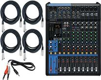 Yamaha MG12XU 12 Input Analog Mixer with Microphone Preamps , Dedicated Stereo Line Channels , Aux Sends, EQ and Digital Effects with 4 Microphone